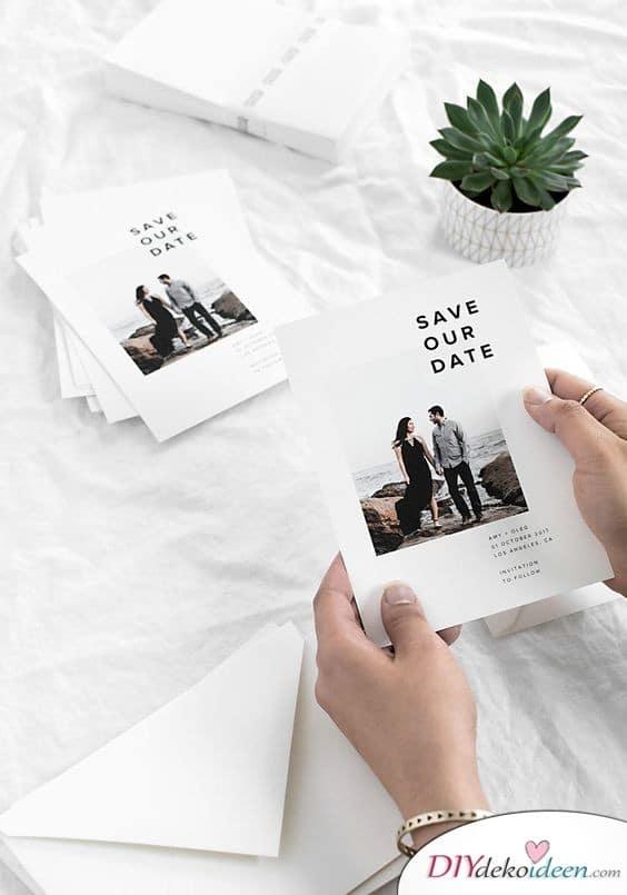 Elegante Save the Date Karten mit Foto