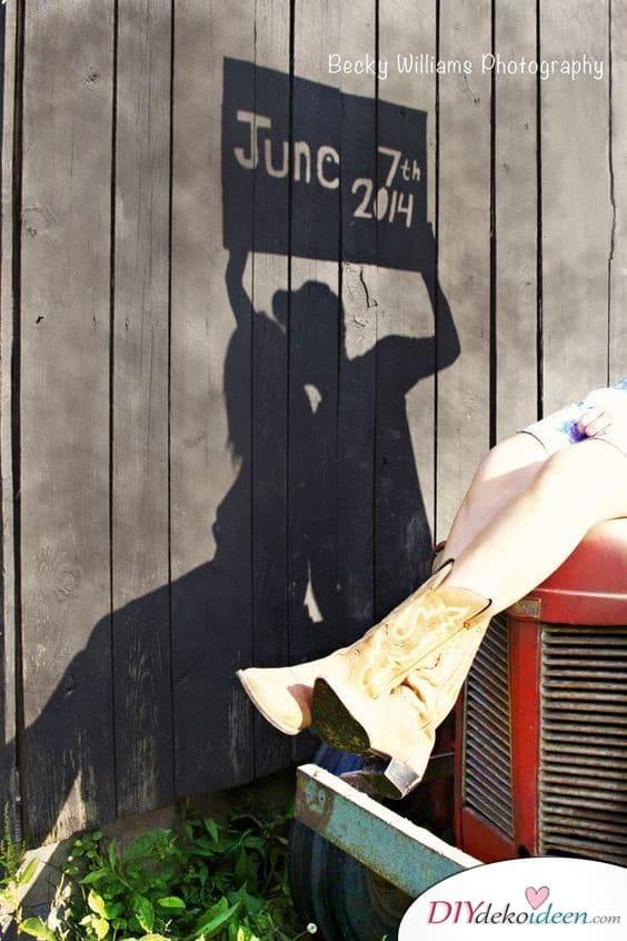 Schattenbild Save the Date Karten
