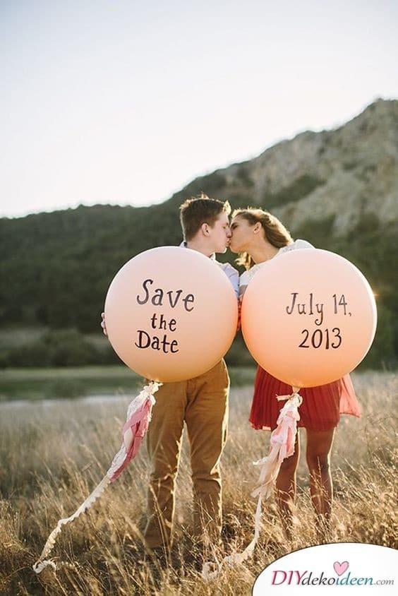 Luftballons- Save the Date Karten zur Hochzeit