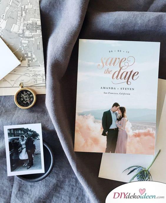 Save the Date Karten mit romantischem Foto