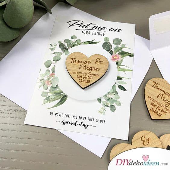 Einladung Hochzeit Karten – Herzmagnete