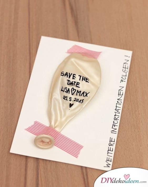 Save the Date Karten selber machen zum Aufpusten