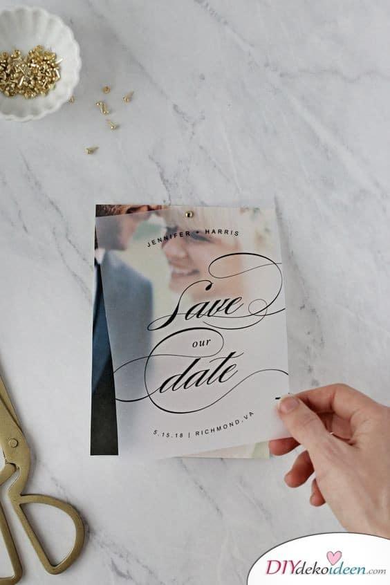 Einladungen gestalten mit Pergamentpapier