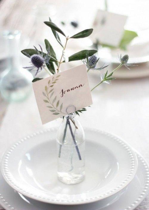 Kleine Vasen - Tischkarten selber machen