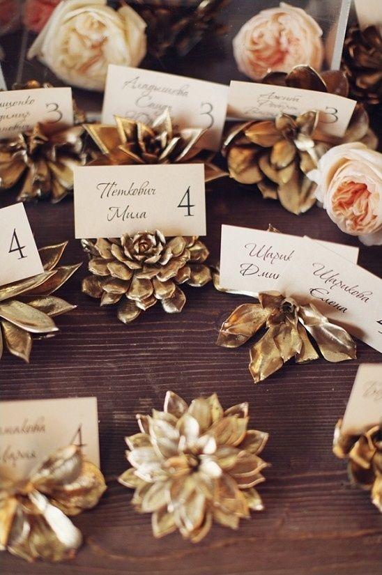 Sukkulenten Hochzeit Platzkarten