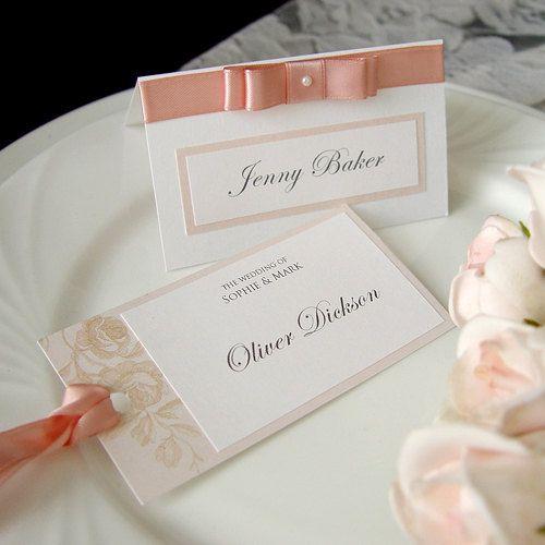 Romantische Tischkarten zur Hochzeit selber machen