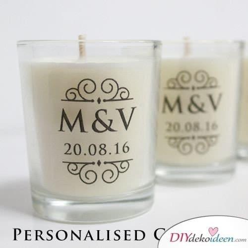 Personalisierte Kerzen - Gastgeschenke