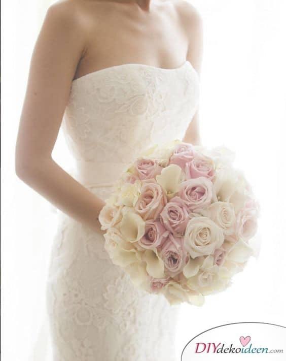 Brautstrauß in Weiß und Rosa – Brautstrauß mit Calla und Rosen