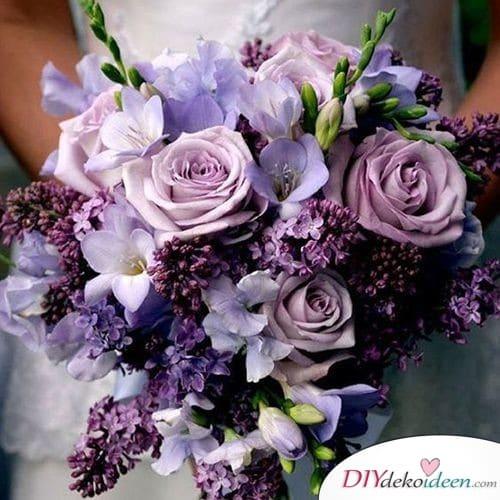 Ein Traum in Lila - Brautstrauß