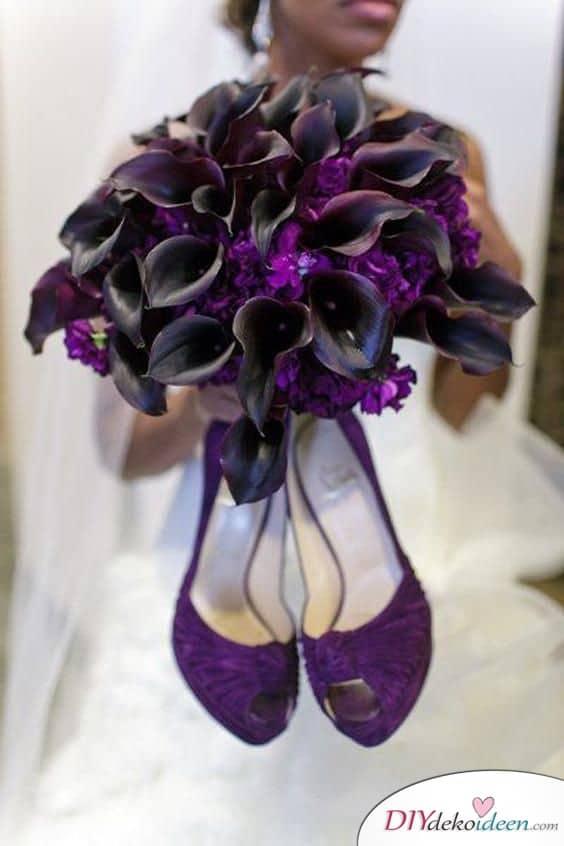 Dramatischer Brautstrauß mit Calla