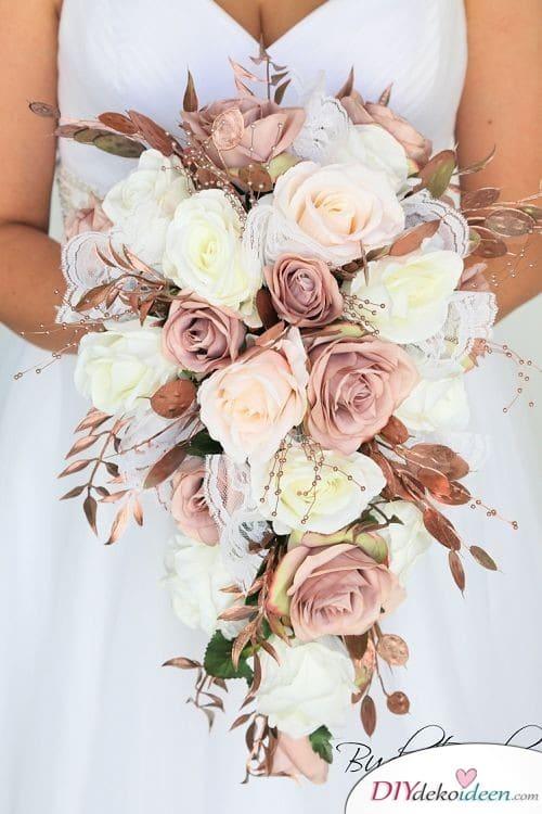 Blumenbouquet in Bronzetönen – Hochzeit