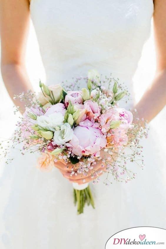 Pastelltöne – Blumenbouquet für die Hochzeit