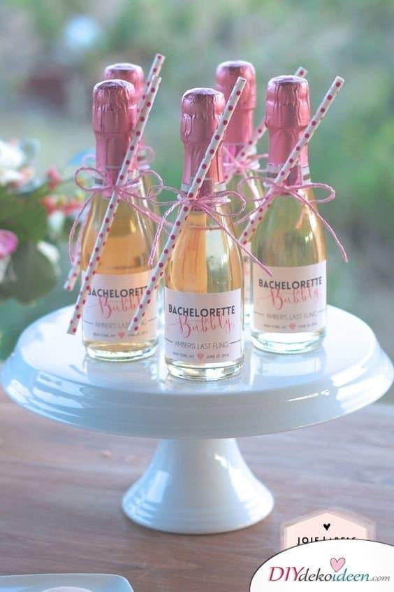 Gastgeschenke zur Hochzeit – Proseccofläschchen