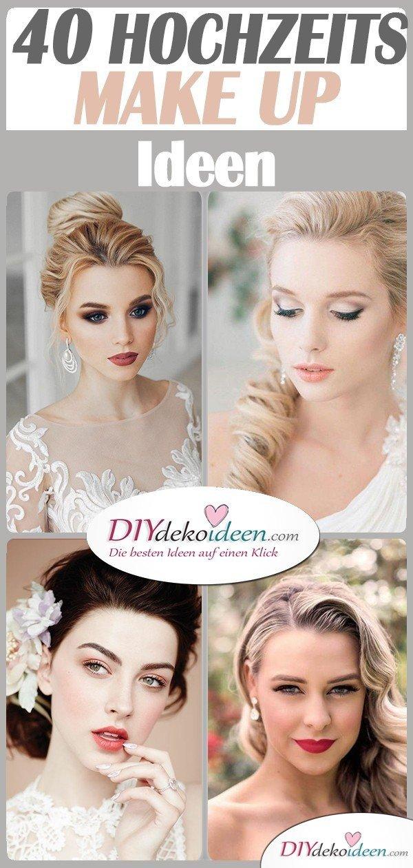 40 traumhafte Hochzeits Make up Ideen für eure Hochzeit - Braut Make up