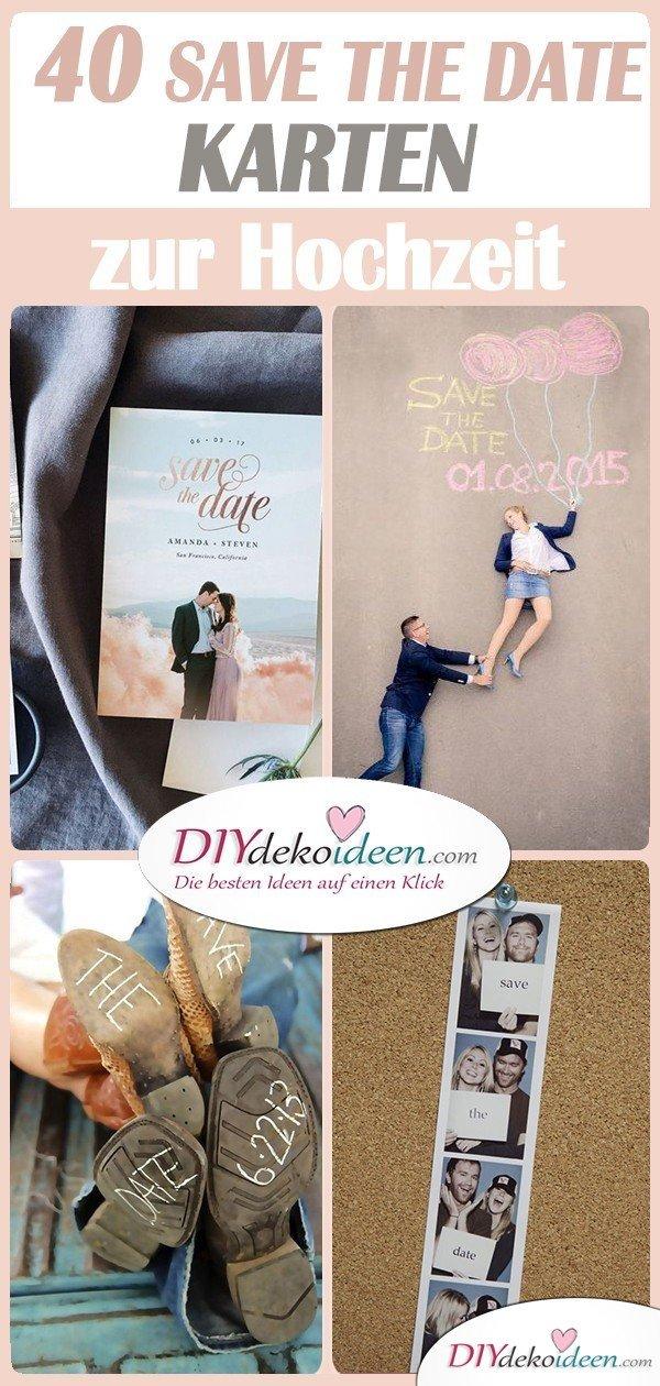 40 wunderschöne Save the Date Karten Ideen für eure Hochzeit