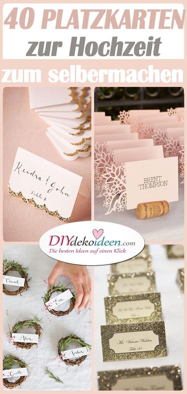 Tischkarten zur Hochzeit selber machen – 40 Ideen für Platzkarten zur Hochzeit