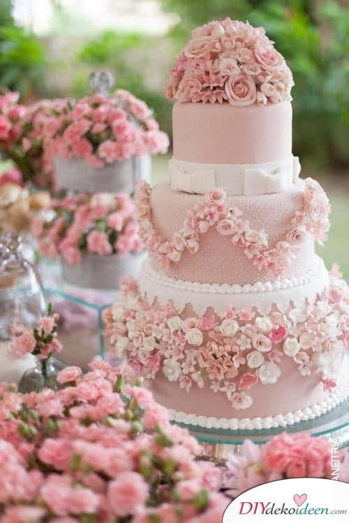 Ein Mädchentraum in Rosa - Hochzeitstorte Ideen