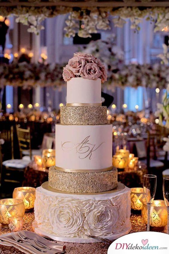 Hochzeitstorte Ideen – Glitzernde Torte