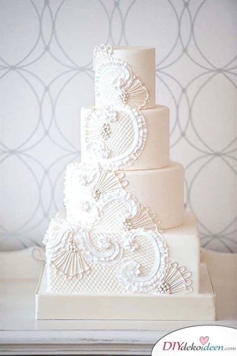 Hochzeitstorten Deko mit Zuckerguss