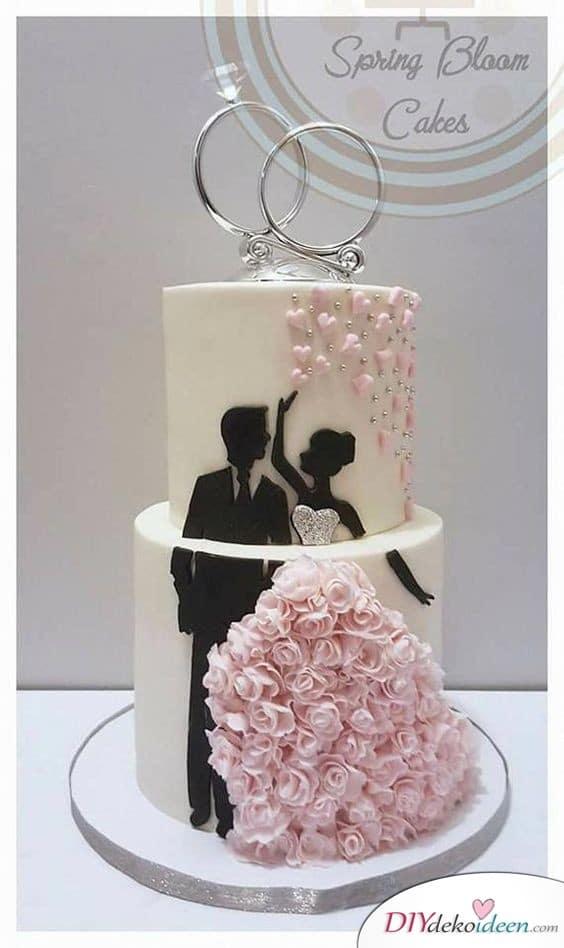 Süße Brautkleidtorte