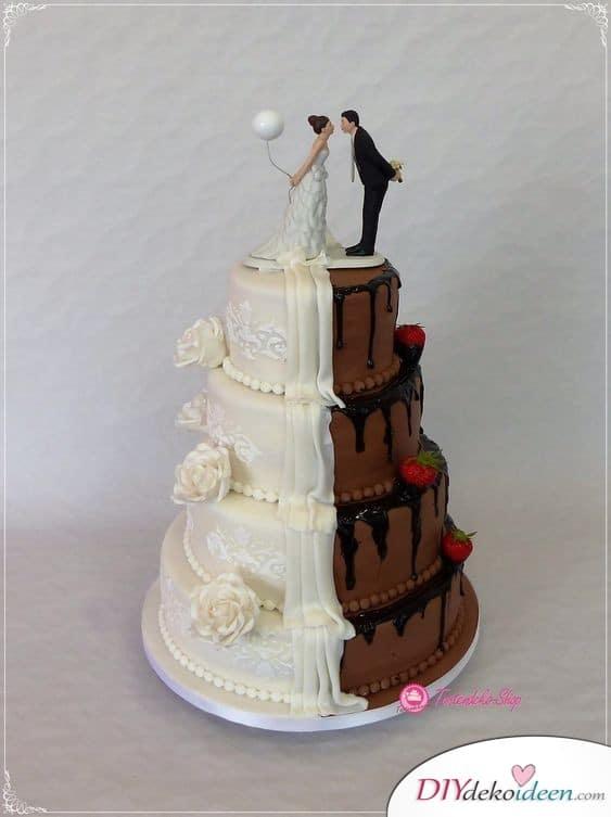 Braut und Bräutigam Hochzeitstorte