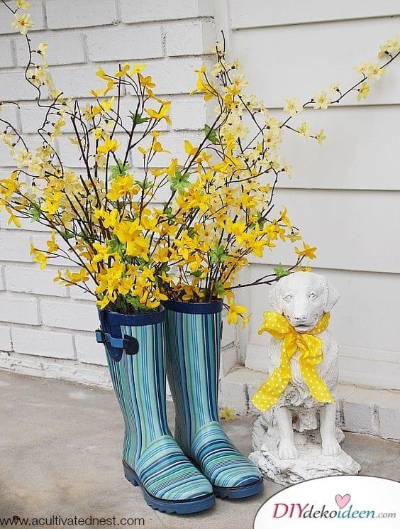 Gartendeko – Gummistiefel Vasen