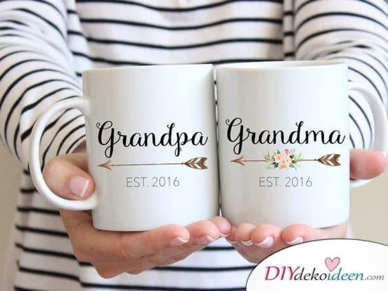 Kaffeetassen - Geschenk Ideen für Großeltern