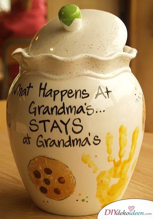 Keksdose - Geschenk für Oma basteln