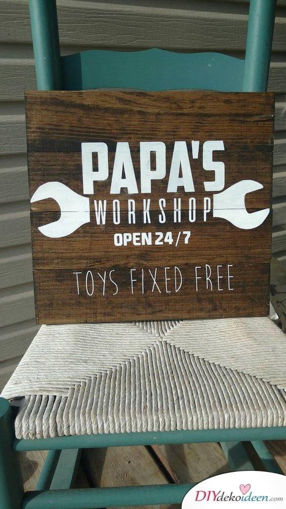 Opas Werkstatt – Geschenk für Opa