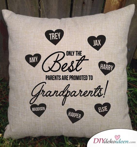Schönes Kissen für die Großeltern