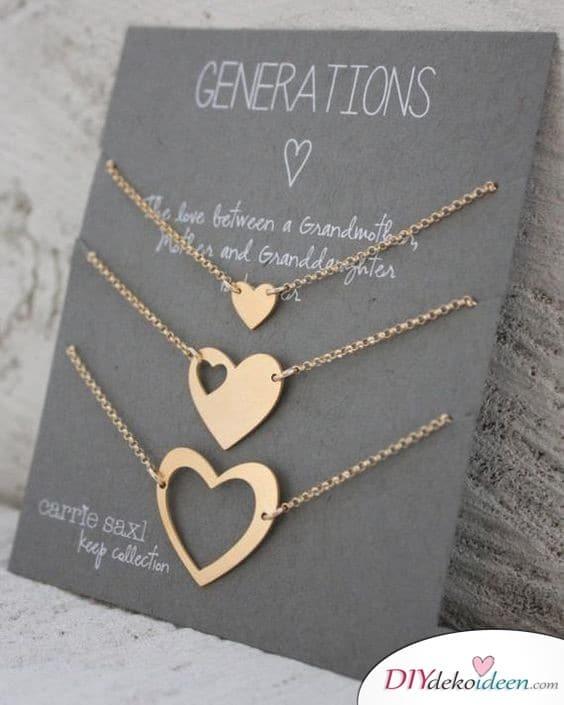 Generationenhalsketten - Geschenkidee für Oma