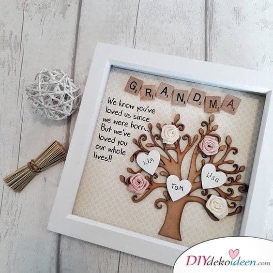 Familienbaum - Geschenkidee für Oma