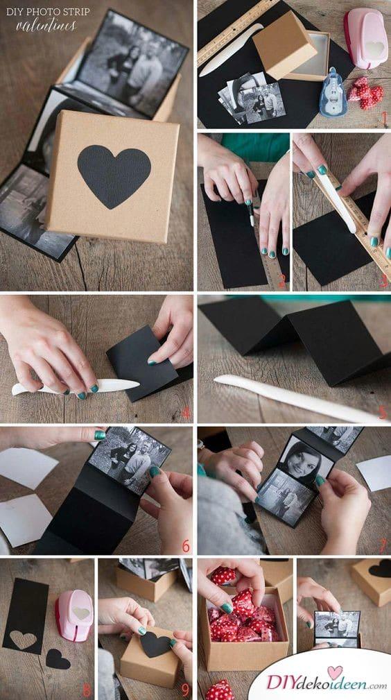Fotobox mit Süßigkeiten - Geschenkideen zum selber machen zum Geburtstag