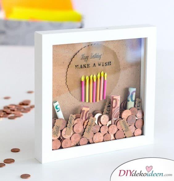 Geldgeschenke hübsch verpacken zum Geburtstag