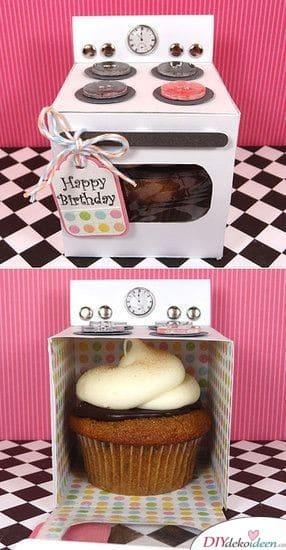 Cupcake im Ofen - Geschenkideen zum selber machen zum Geburtstag