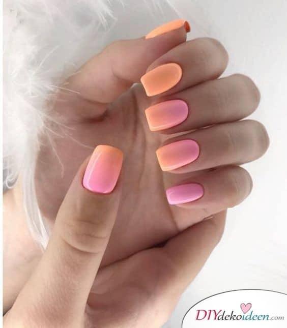 Freche Farben – Ombré-Look für die Nägel