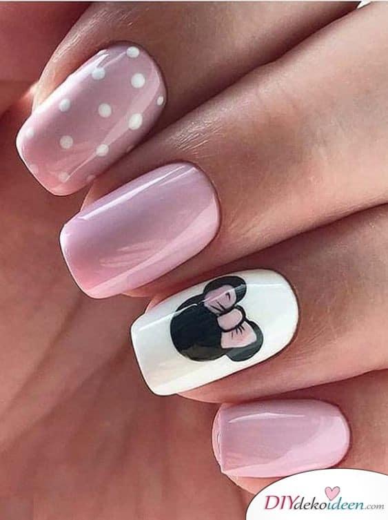 Minnie Maus Nägel - Frühlingsnägel