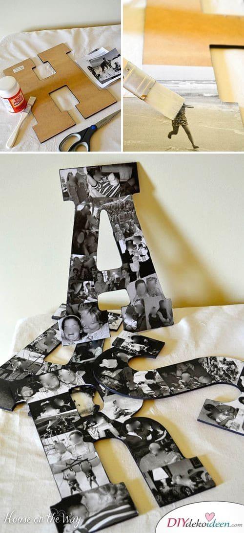 Fotobuchstabe mit Lieblingsbildern - kreatives Geschenk für den besten Freund