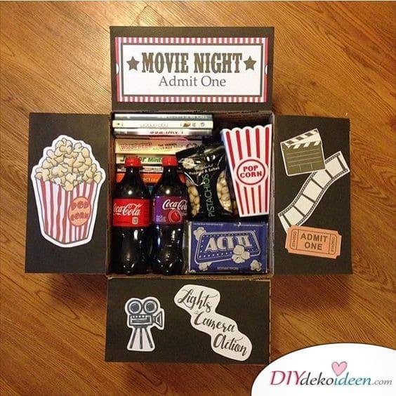 Filmeabend Ausstattung - Geschenk für den besten Freund