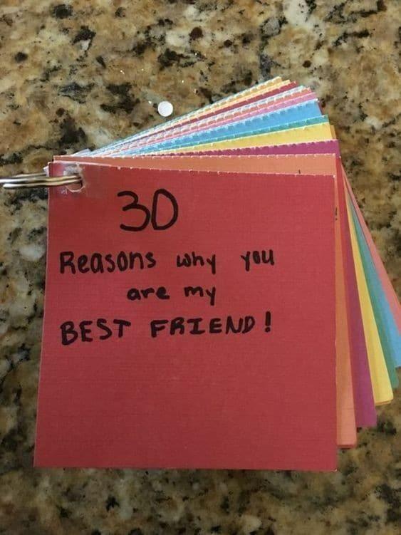 30 Gründe, warum du mein bester Freund bist - persönliches Geschenk für den besten Freund