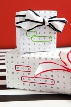 Persönliche Geschenkverpackung