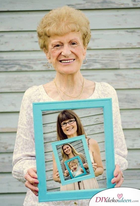 Generationenbild - Geschenkideen für Oma basteln
