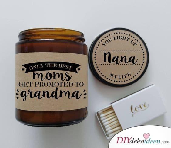 Persönliche Duftkerze für Oma