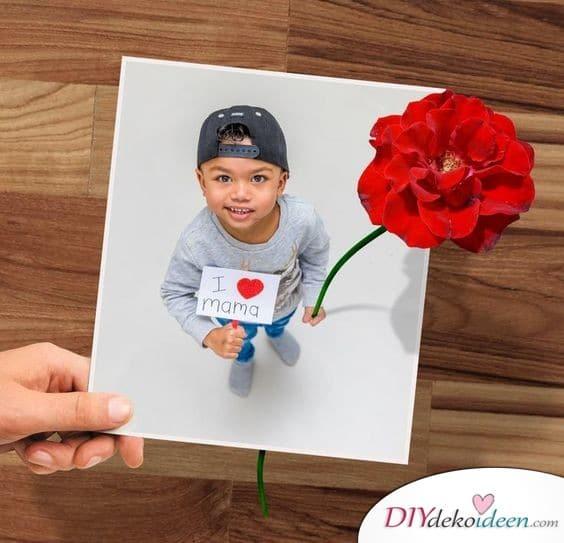 Geschenke für Oma – Süße Fotokarte