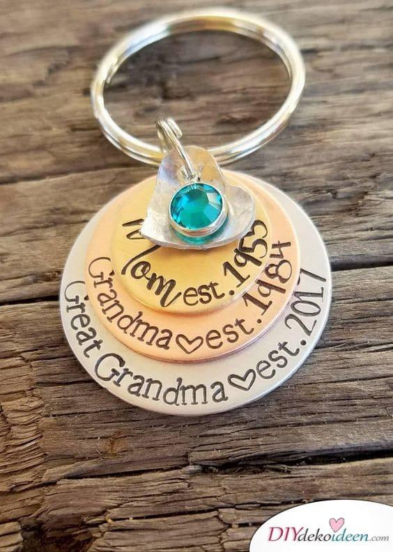 Geschenk für Oma von Enkeln – Schlüsselanhänger