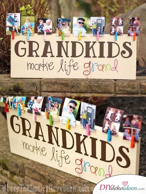 Große Fotowand - Geschenke für Oma