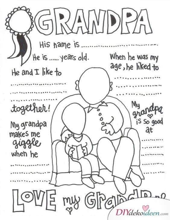Aufsatz über Großvater vom Enkel