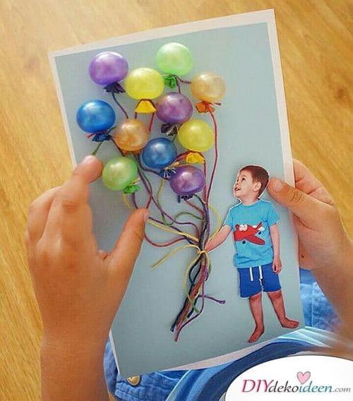 Geschenk für Opa vom Enkel- Bild mit Luftballons