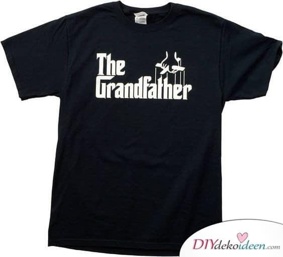 Bedrucktes Shirt - Geschenk für Opa basteln