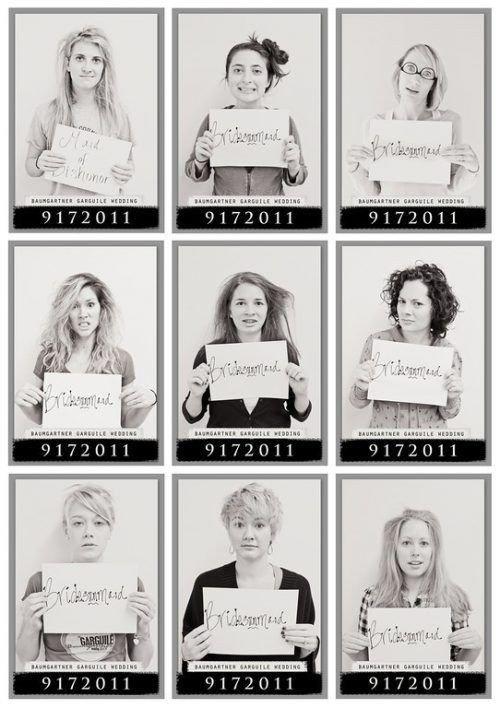 Verbrecherfotos aller Mädels - JGA Ideen